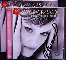 Vesselina KASAROVA Signiert SCHUBERT BRAHMS SCHUMANN Lieder CD Friedrich Haider