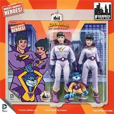 SUPER FRIENDS; WONDER TWINS ; ZAN; JAYNA GLEEK  8 INCH ACTION FIGURE SET MOSC