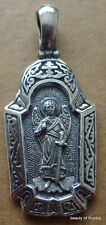 Pendant Guardian angel #3s russian made silver plated