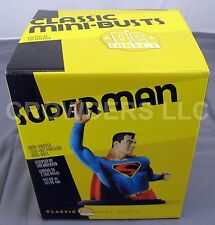 "DC Direct Superman Statue Classic Mini Bust 6-5/8"" Golden Age Tim Bruckner 2002"