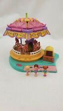 Polly Pocket   carousel  fun fair ride 100% Complete 1996 By Bluebird toys