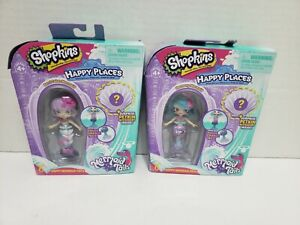 Lot of 2- Shopkins Happy Places Mermaid Tails Harmony and Berri Cakes NEW 2017