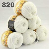 Sale LOT 6ballsx50gr NEW Chunky Hand-woven Colors Knitting Rainbow Wool Yarn 820