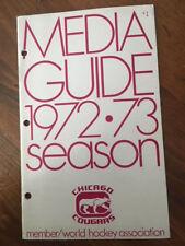 1972-73 Chicago Cougars WHA World Hockey Association  Media Guide