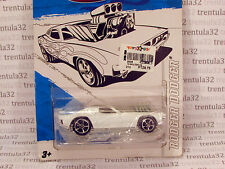 ULTRA-RARE WHITE RODGER DODGER W RESEALABLE BLISTER Hot Wheels