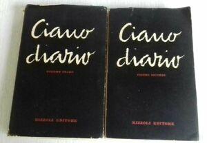 Libro Galeazzo Ciano Diario Rizzoli Editore 1950 Vol I, II