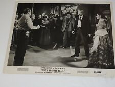 """AUDIE MURPHY & GIA SCALA"""" Ride a Crooked Trail"""" 1958 lobby Card Photo 8 x 10"""""""
