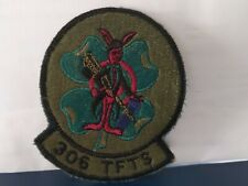 USAF 306th Tactical Fighter Training Squadron Patch 3 1/2 x 2 x 3/4 inches