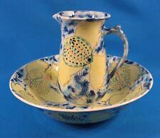 Cynthia Cupples Pottery Art Deco Wash Basin Bowl & Pitcher 1994