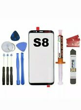 Samsung Galaxy S8 OEM G950 Black Glass Lens Screen Replacement Loca UV Glue Tool