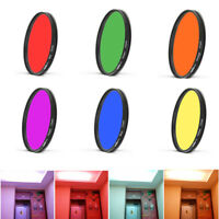 25 27 28mm Green Orange Red Purple Yellow Blue Full Color Filter For Camera Lens