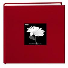 Pioneer Photo Albums 200 Pocket Fabric Frame Cover Album 4X6 2-Up Apple Red
