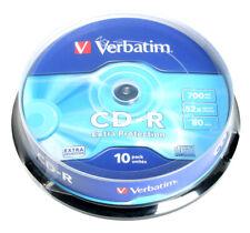 Lot de 10 CD-R Verbatim Extra Protection 700 Mo 80 min CD vierge enregistrable