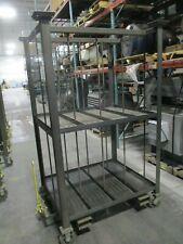 Misc Brand Metal Storage Cart Box 39x48x74 Shelf 39x11x34 Used