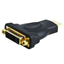 HDMI Male to DVI-D Single Link Female Video Adapter PC Laptop Monitor Gold