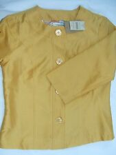 NWT Coldwater Creek Women's Suit Blazer Top Gold 100% Silk 8 Lined MSRP 69 NEW