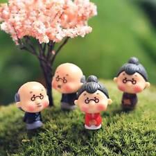 4pcs Old Granny Fairy Garden Gnome Moss Terrarium Home Decor Crafts Bonsai Doll