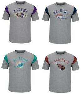 NFL Men's Athletic Gray Pure Heritage Suede Jersey T-Shirt
