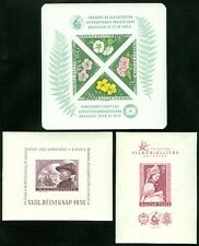 HUNGARY : 3 Better Imperforated S/S. 1950 Sheetlet Hinged, other 2 are VF, MNH.