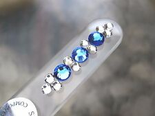 "Mont Bleu Czech Crystal Glass Nail File Limited Edition New 5 1/2"" New"
