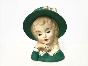 "Vintage Lady Headvase / Head Vase Japan - 4.25"" H"