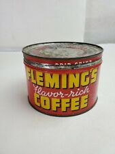 Vintage Fleming's Flavor-Rich Coffee One Pound Can