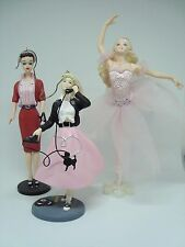 Barbie Collectible Hallmark Ornaments.Set of 3! Various Barbies. Awesome!