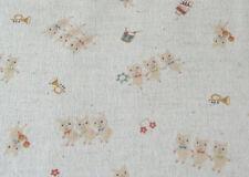 Japanese Three Little Pigs Cotton Linen Fabric Half Yard