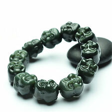Natural Hetian jade Buddha head Bead Bracelet Fashion Bracelet