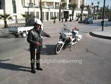 Photo. 2000s. Syria. Policeman & Motorcycle