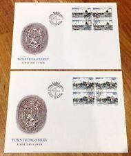 Norway Post FDC 1991.04.16. 350th Anniversary Kristiansand - Block of Four