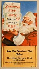 Vintage 1943 Christmas Club by The Dime Savings Bank of Brooklyn Nos