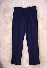 JCrew $128 Bowery Urban Classic Fit Wool Pants 30/30 Deep Royal 44448