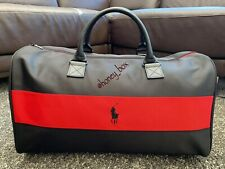 Brand New Ralph Lauren Mens Polo Red Weekend Travel/Overnight/ Gym Bag In Black