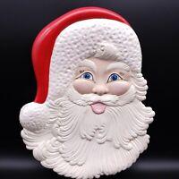 "15"" Atlantic Mold Handpainted Christmas Santa Plate Platter"