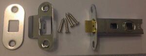 National Hickman door standard latch 63mm body + chrome face plate & screws New