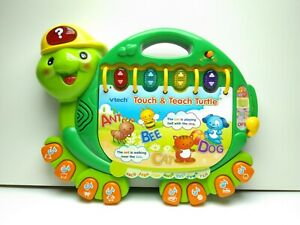 VTECH Touch and Teach Turtle Learning Toy Alphabet Shapes Numbers Music ABCs