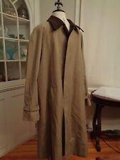 NEIMAN MARCUS trench coat wool Austria tyroler loden lining men's size 40 L