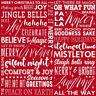 Holiday Wishes Words Henry Glass Cotton Quilt Fabric 6925-88 by the yard