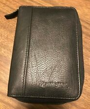 Remington Brand Hunting license and ID Photo case Zippered leathercase