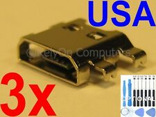 3x Micro USB Charging Charger Sync Port For LG K20 Plus MP260 TP260 VS501 Phone