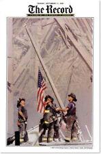 FIREFIGHTER PRINT - New York Fireman Flag Raising Ground Zero FDNY 24x36 Poster