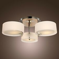 HOT Modern 3 Lights Flush Mount Ceiling Lamp Fixture Chandelier Finish in Chrome