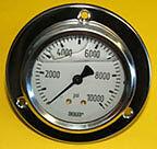 160 PSI Panel Mount Pressure Gauge liquid filled (A-G1040)