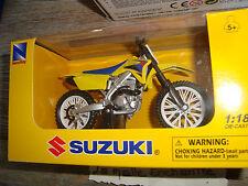 MOTO MINIATURE SUZUKI RM Z 450 (2007) NEW CANNED NEW RAY 1/18° POT BLACK
