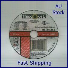 "4"" 100x2.5x16mm FLEXOVIT® CUTTING DISC WHEELS ANGLE GRINDER CUT OFF METAL STEEL"