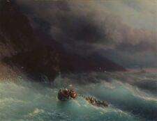 Ivan Aivazovsky The Shipwreck on Black Sea Oil Painting repro