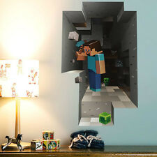 Mincraft Cave Wall Sticker Wall Decal Size 87*54