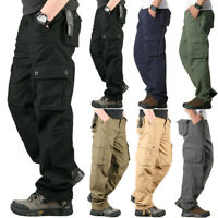 Mens Military Army Combat Trousers Work Cargo Pants Casual Hiking Multi Pocket