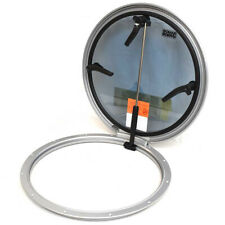Bomar Boat Round Escape Hatch N1139-10P5D7ST | 20 1/4 Inch Silver